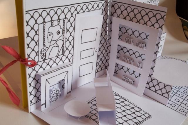 Ma maison à décorer - Livre de coloriage Pop-up