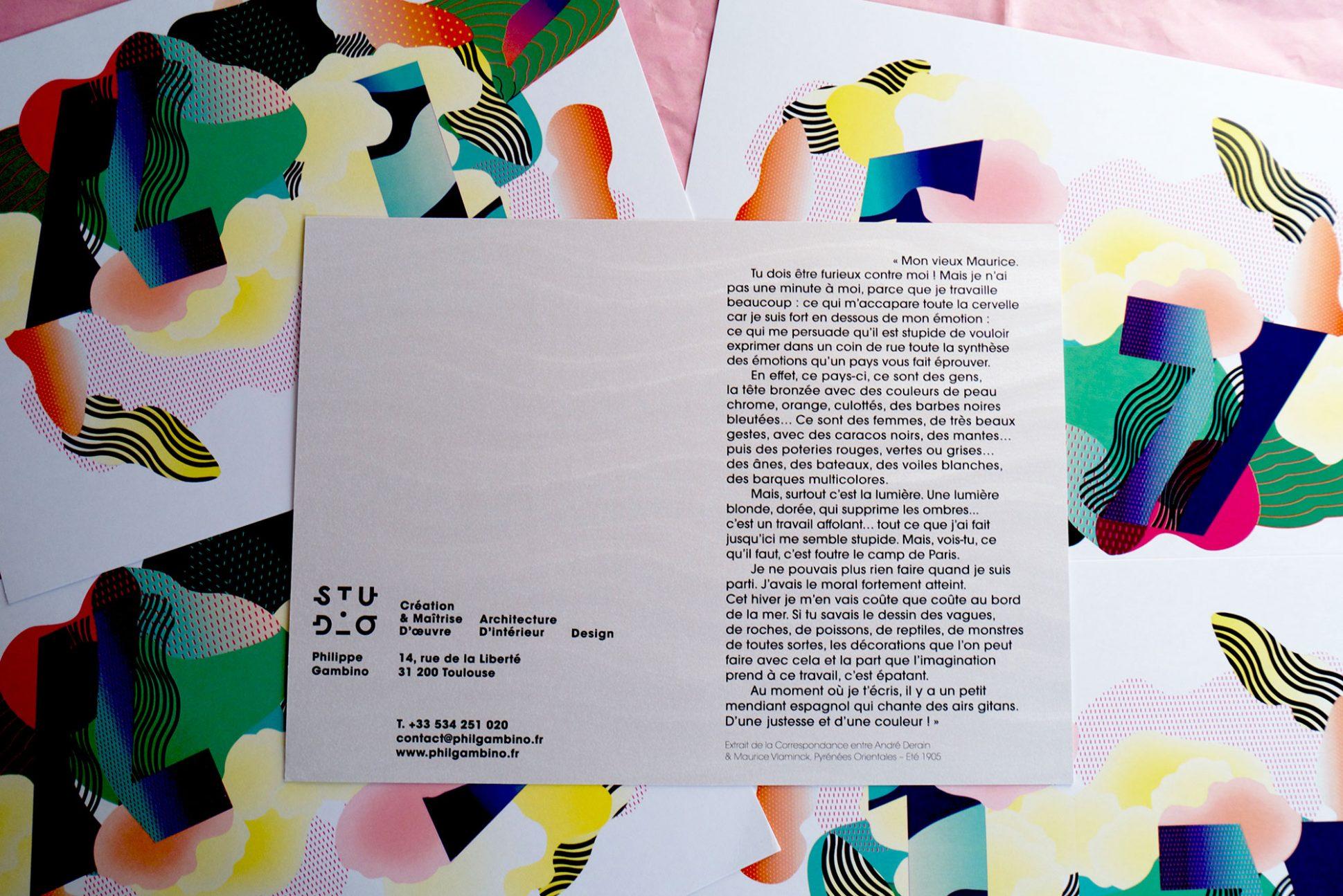 Carte de Vœux Studio Philippe Gambino