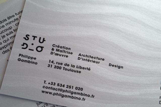 Carte de vœux pour le Studio Ph. Gambino