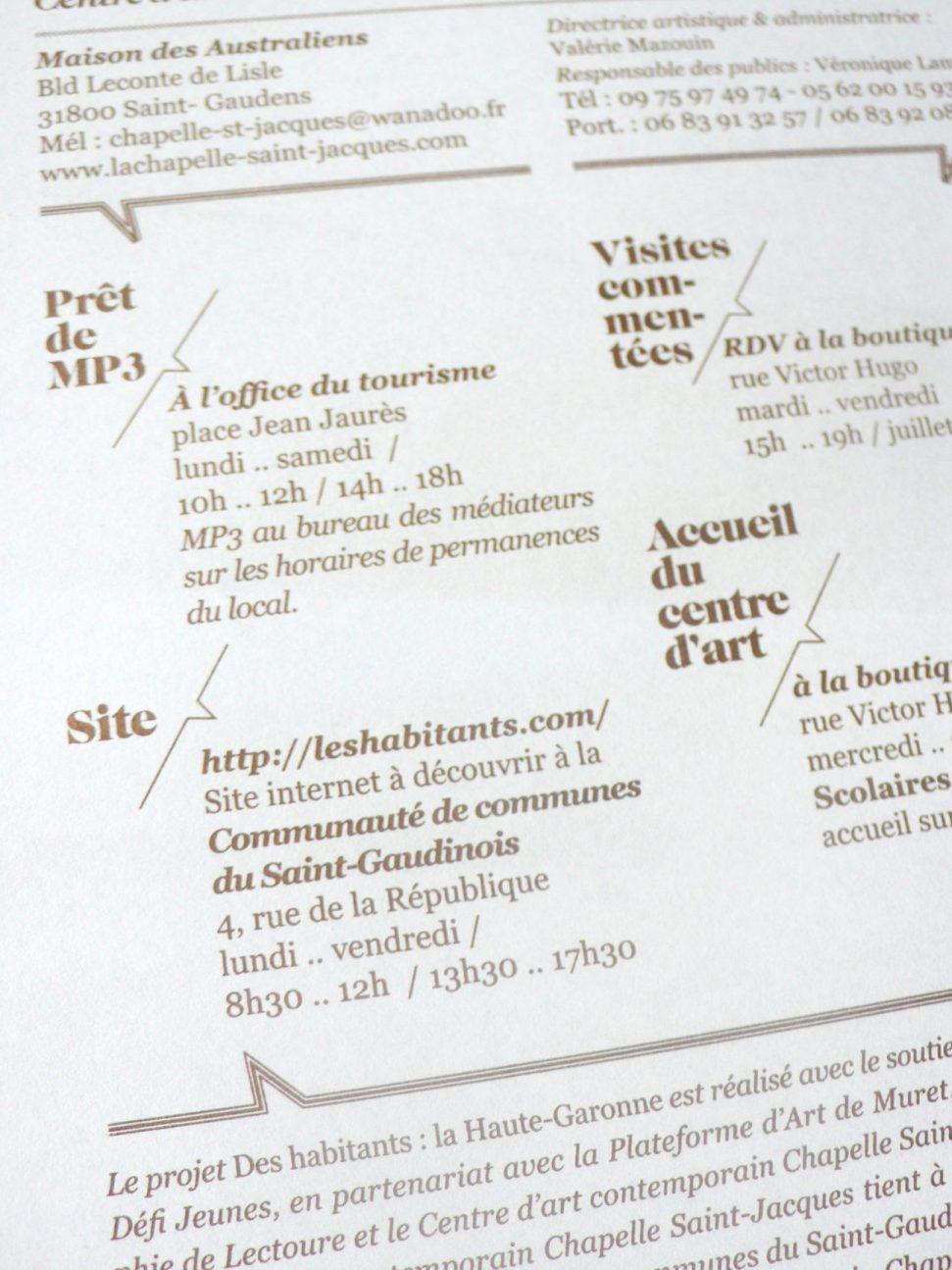 Des Habitants - La Chapelle ST Jacques, St Gaudens